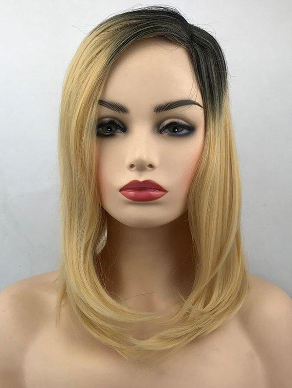 Medium Colormix Side Parting Synthetic Straight Wig - multicolor