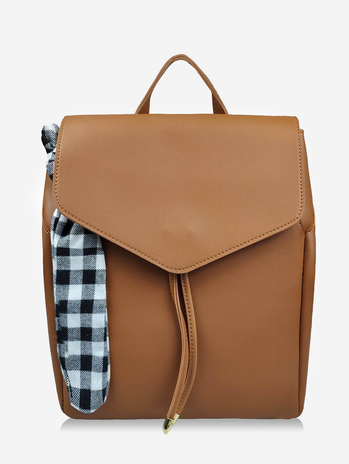 Vérifiez Bowknot String Design Backpack - Brun