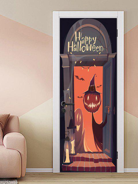 Stickers de porte pour Halloween Ghost Home - multicolor 2PCS X 15 X 79 INCH