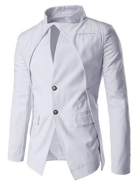 Faux Twinset Single Breasted Blazer - WHITE M