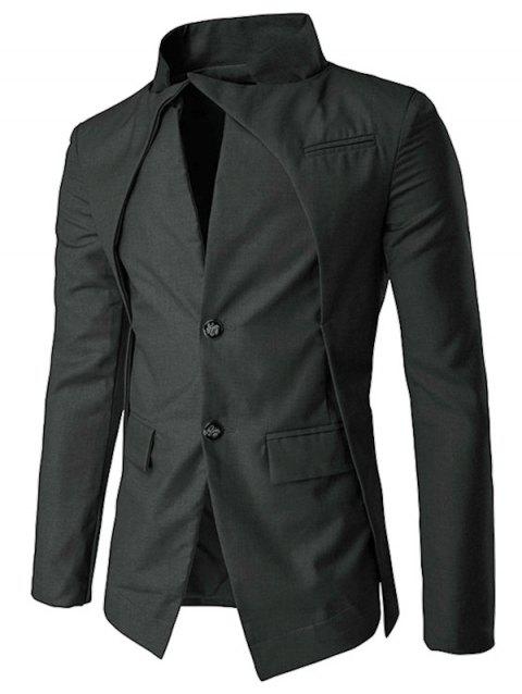 Veste à Boutonnage Simple en Faux Twinset - Noir 2XL