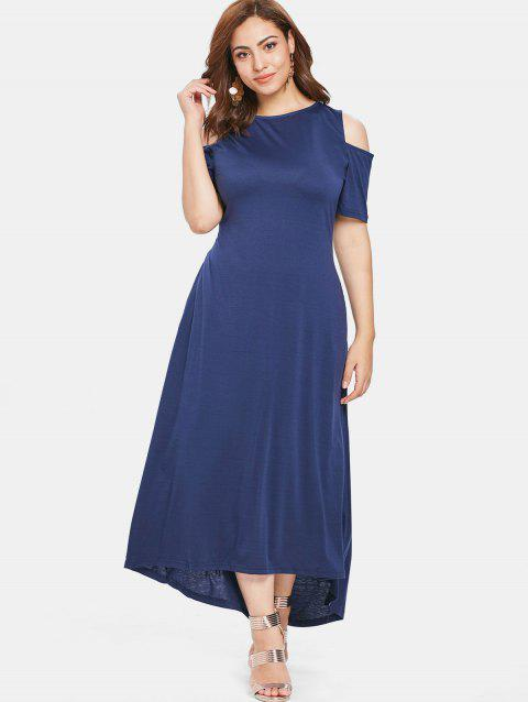 537ce182382 35% OFF] 2019 Open Shoulder Plus Size Round Neck Maxi Dress In ...