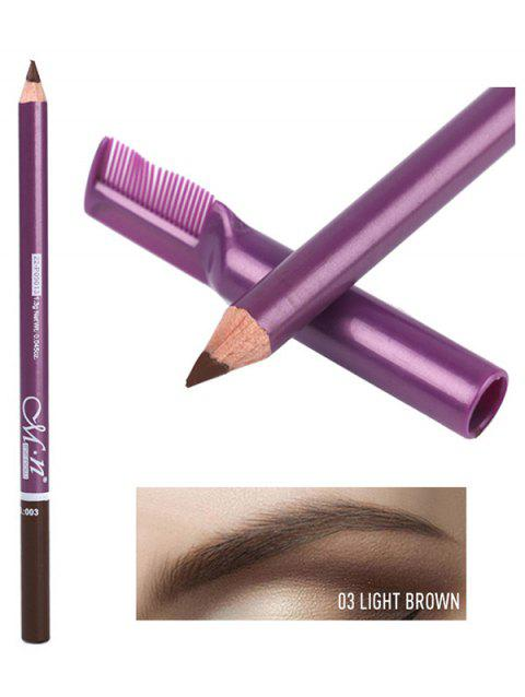 Cosmetic Long Lasting Waterproof Eyebrow Pencil with Brush - LIGHT BROWN