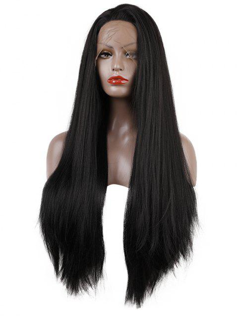 Free Part Long Synthetic Straight Lace Front Wig - BLACK 26INCH