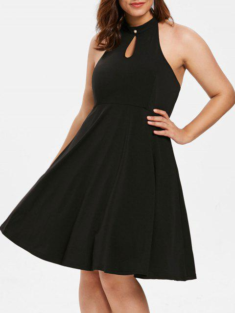 Plus Size Sleeveless Open Back Dress - BLACK 4X