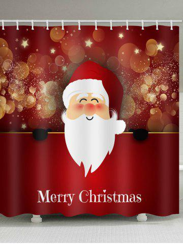 christmas santa claus pattern waterproof shower curtain - Dresslily Shower Curtains