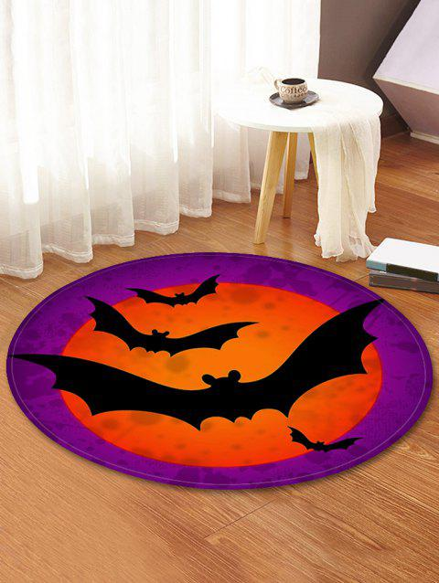 Bat Decorative Round Floor Rug Medium Orchid 60cm
