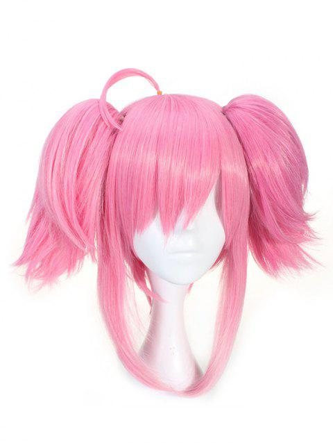 Short Straight Double Ponytails Game Character Lux Cosplay Synthetic Wig - BLUSH RED