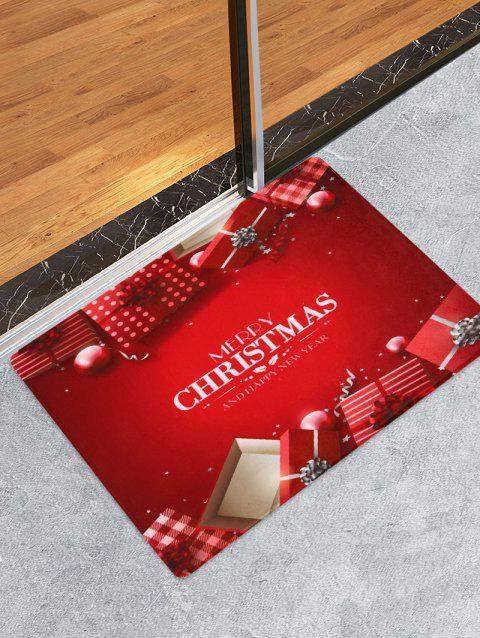 Merry Christmas Gift Print Decorative Bath Mat - multicolor W24 X L35.5 INCH