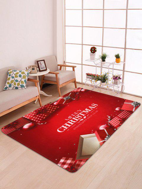 Merry Christmas Gift Print Decorative Bath Mat - multicolor W47 X L63 INCH