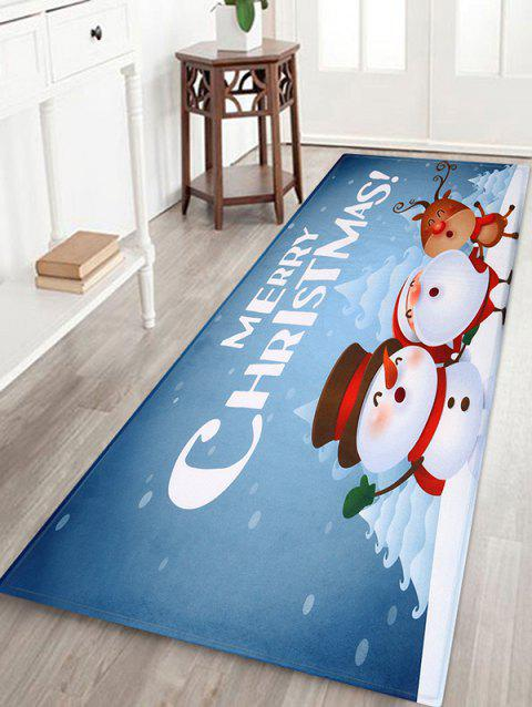 Merry Christmas Print Decorative Bath Mat - multicolor W24 X L71 INCH