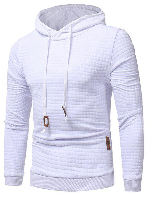 1c362aee6ad7 LIMITED OFFER  2019 Applique Solid Long Sleeve Hoodie In WHITE M ...