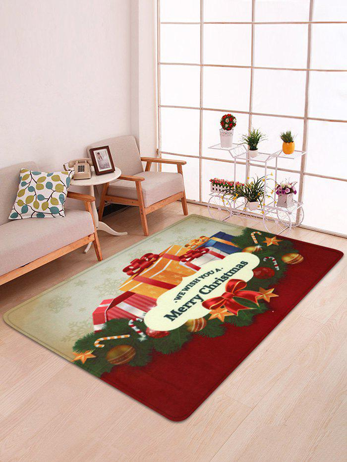 Christmas Theme Gift Box Decorative Floor Mat, Multi