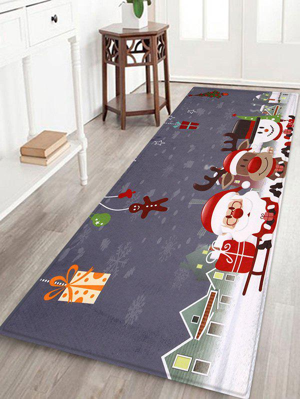 Christmas Decorations Printed Area Rug - multicolor W24 X L71 INCH