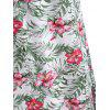 Tropical Print Maxi Dress - multicolor M