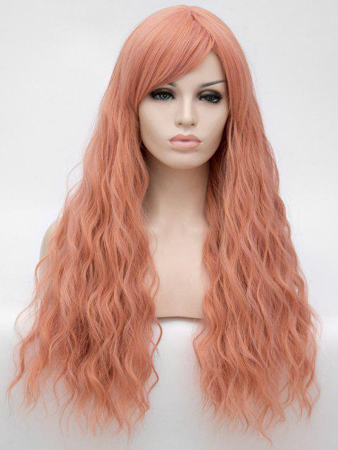 Long Side Bang Natural Wavy Anime Party Synthetic Wig - ORANGE PINK