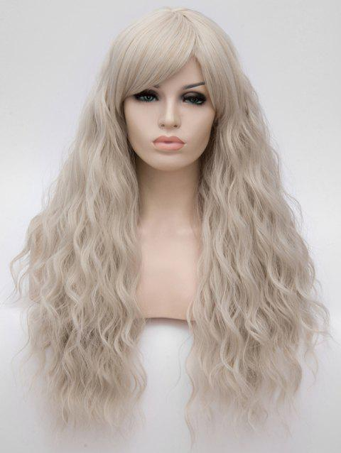 Long Side Bang Natural Wavy Anime Party Synthetic Wig - GRAY CLOUD