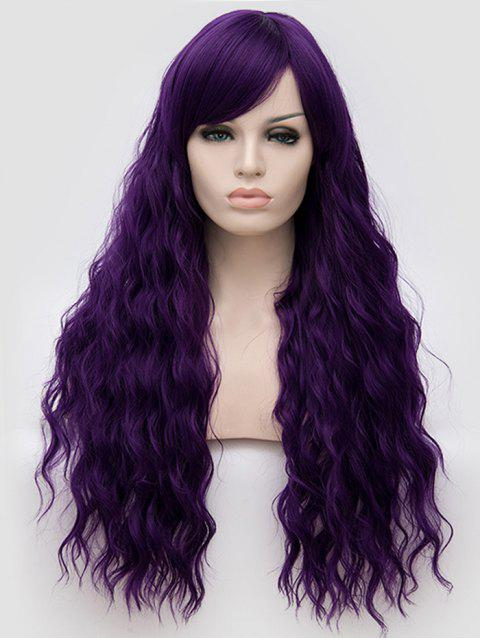 Long Side Bang Natural Wavy Anime Party Synthetic Wig - PURPLE IRIS
