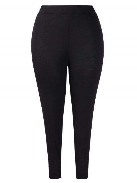 Knotted Plus Size Leggings - BLACK 3X