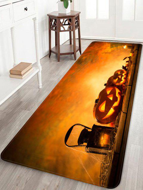 Tapis de sol anti-dérapant Halloween - Orange Halloween W24 X L71 INCH