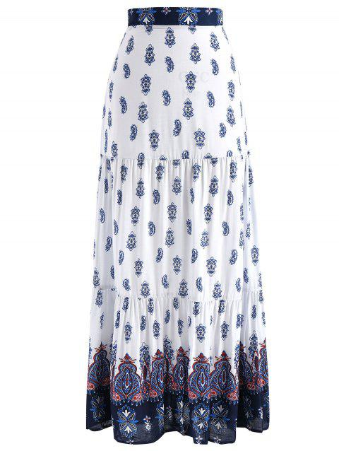 Bohemian Maxi Skirt - WHITE XL