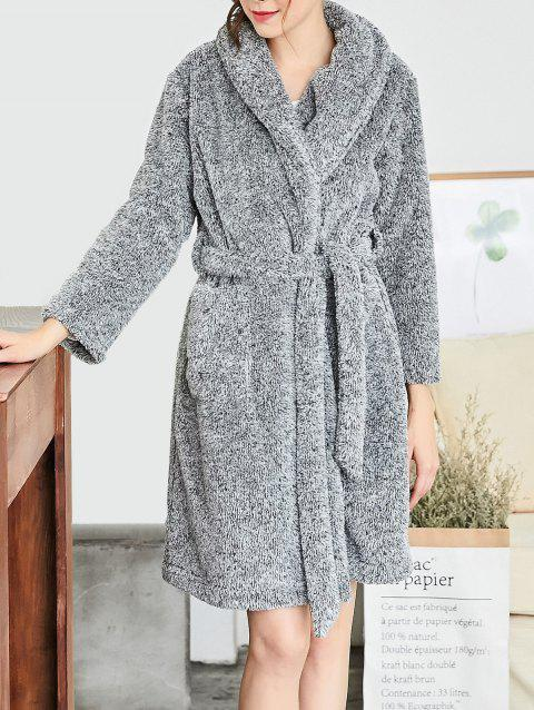 Fluffy Sleeping Robe - GRAY XL
