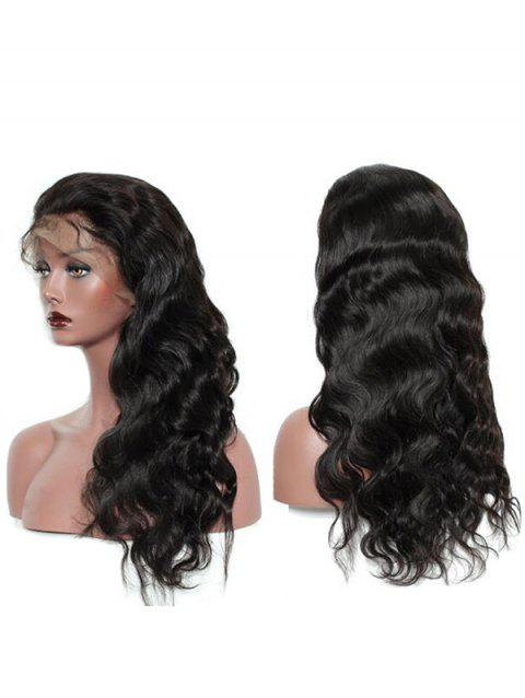 Long Free Part Body Wave Heat Resistant Synthetic Lace Front Wig - BLACK 26INCH