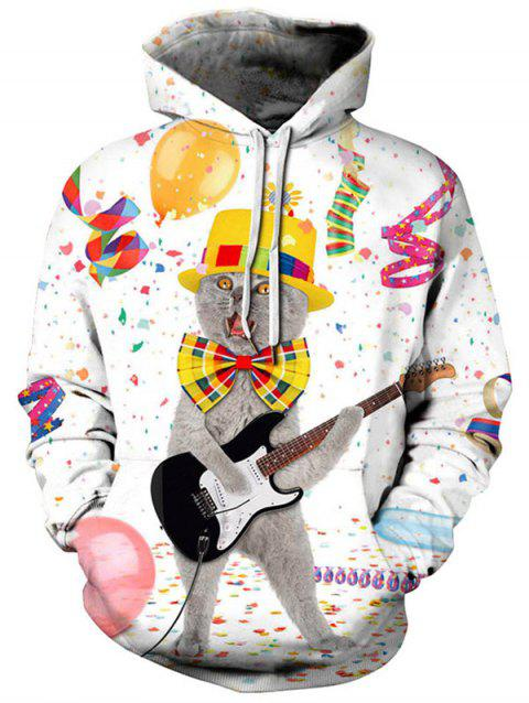Sweat à capuche Noël graphique - multicolor 1X