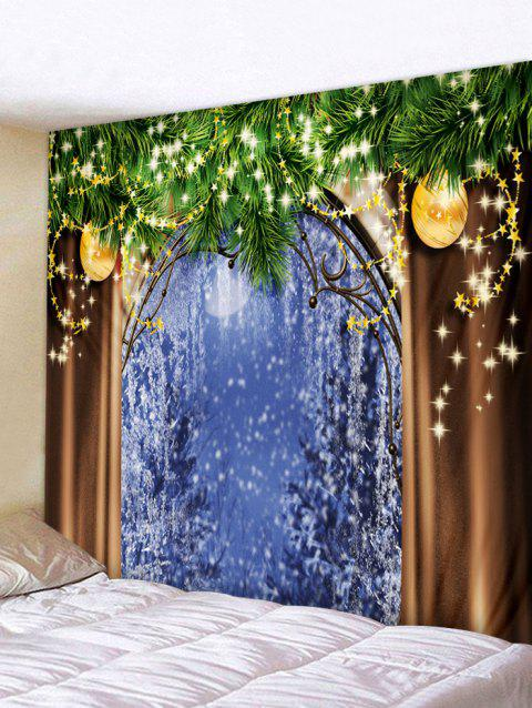 Christmas Wall Tapestry Art Decoration - multicolor W91 X L71 INCH