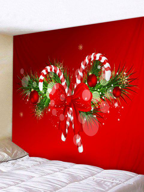 Christmas Candy Cane Wall Tapestry Art Decoration - multicolor W91 X L71 INCH
