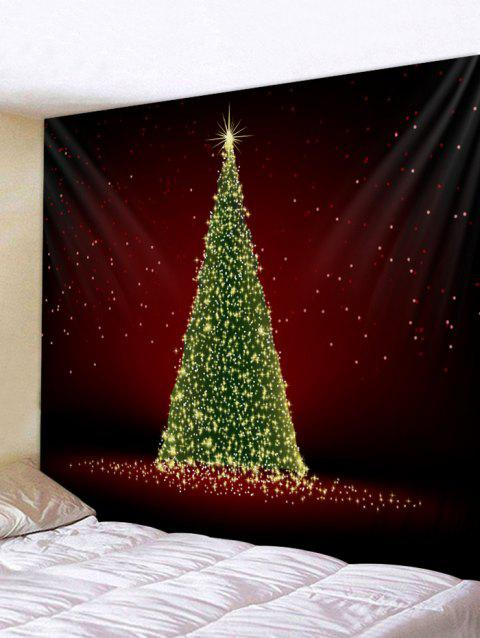 Christmas Tree Wall Tapestry Decoration - multicolor W59 X L51 INCH