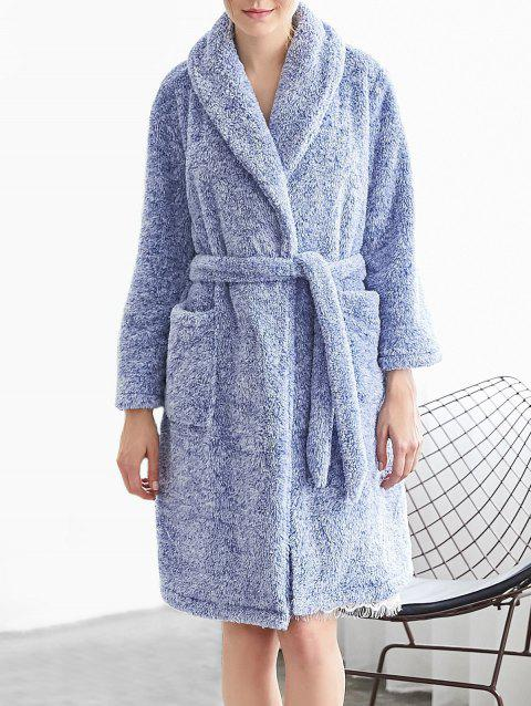 Fluffy Sleeping Robe - SEA BLUE XL