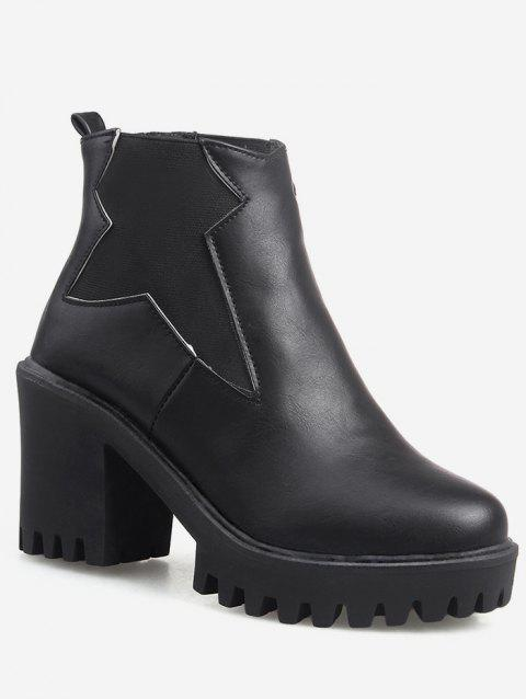 Plus Size Platform High Heel Ankle Boots - BLACK EU 43