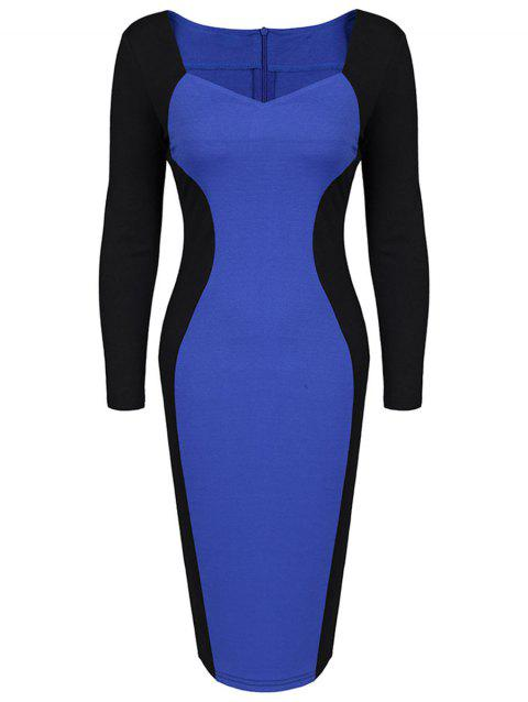 Robe taille crayon deux tailles - Bleu ONE SIZE
