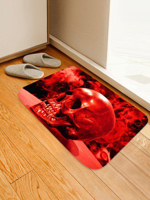 Halloween Blood Skull Non-slip Area Rug - RED W16 X L24 INCH