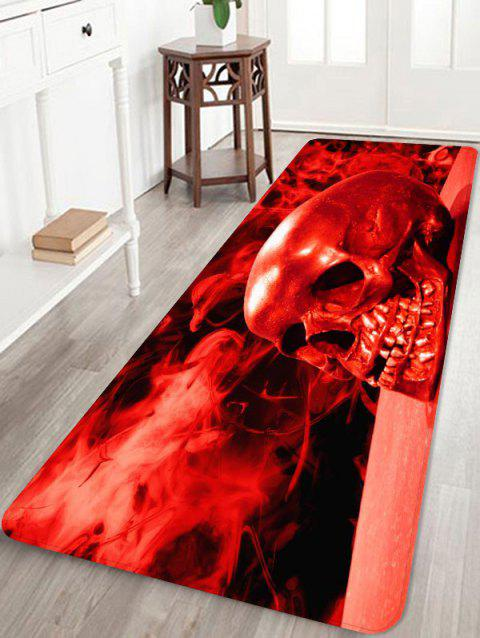 Halloween Blood Skull Non-slip Area Rug - RED W16 X L47 INCH