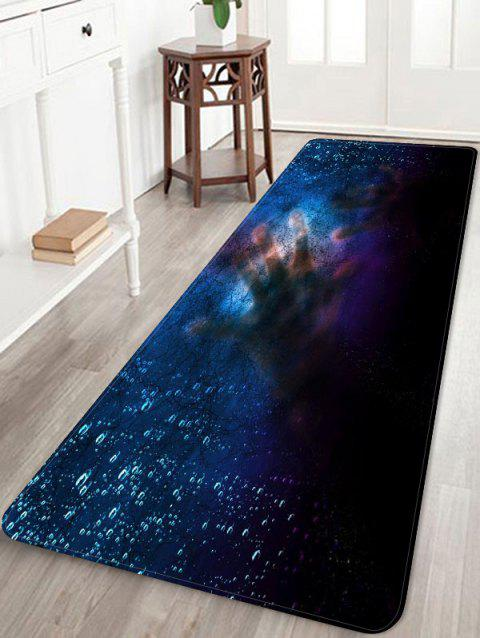 Halloween Window Hands Non-slip Area Rug - DEEP BLUE W16 X L47 INCH