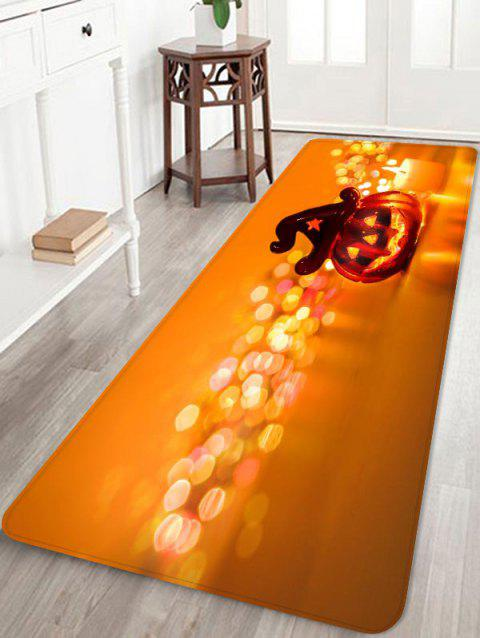 Tapis anti-dérapant Halloween - Orange Halloween W24 X L71 INCH