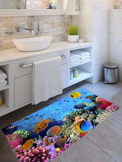 Underwater Animals Print Floor Stickers - multicolor 1PC X 24 X 47 INCH( NO FRAME )