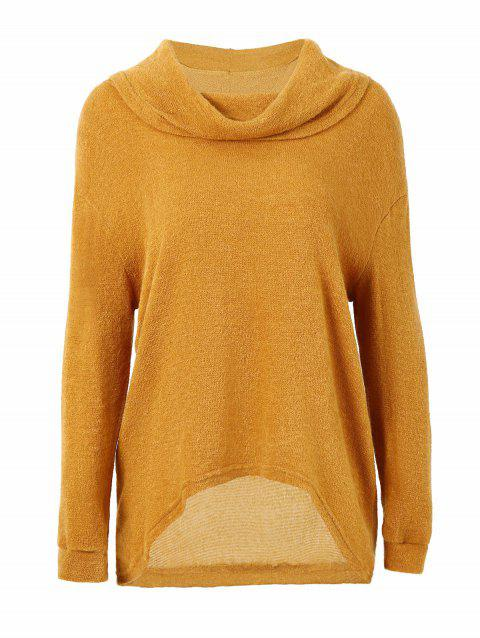 Pull bas col haut - Orange d'Or M