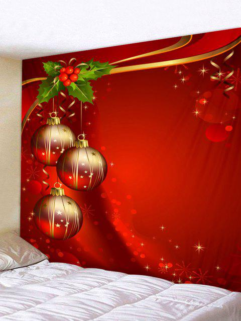 Christmas Ball Tapestry Art Decoration - multicolor W91 X L71 INCH