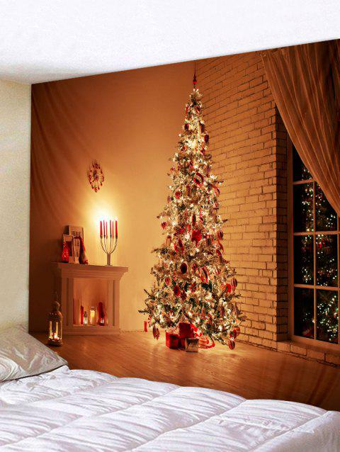 3D Christmas Tree Tapestry Art Decoration - multicolor W91 X L71 INCH