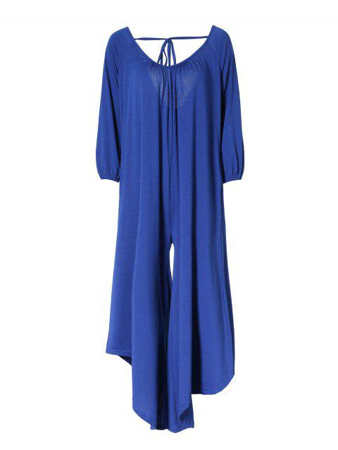 Loose Jumpsuit with Raglan Sleeve - BLUE L