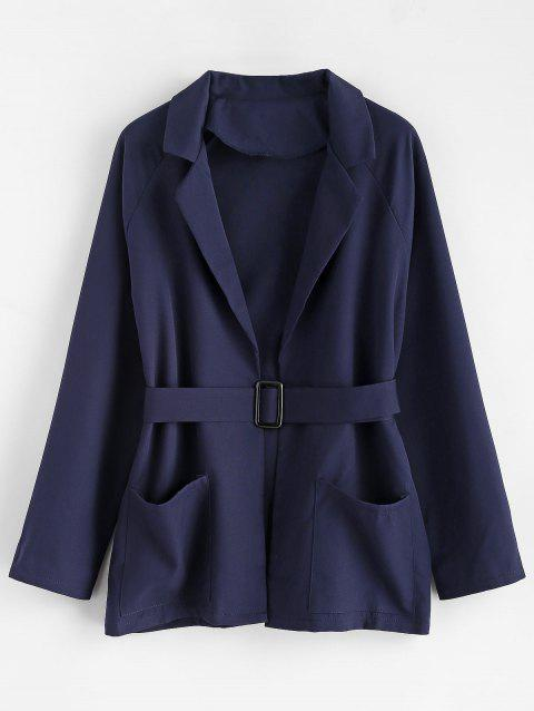 Manteau Tunique de Grande Taille - Cadetblue 3X