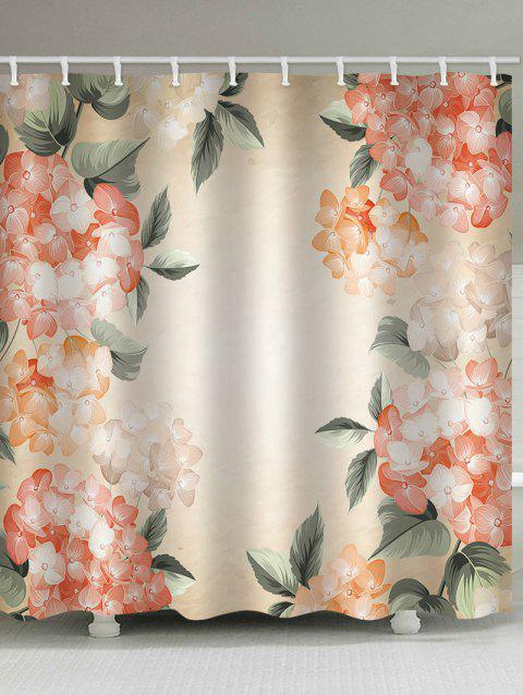 Flowers Painting Print Waterproof Shower Curtain - multicolor W59 X L71 INCH