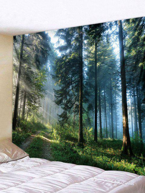 3D Forest Tapestry Art Decoration - multicolor W91 X L71 INCH