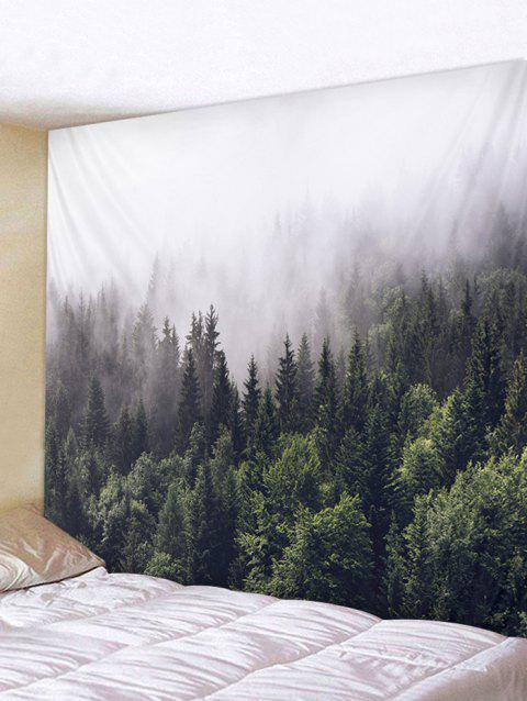 Misty Forest Tapestry Art Decoration - multicolor W91 X L71 INCH