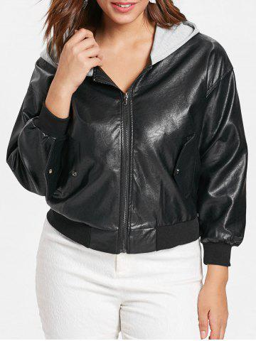 11cf316f31b 2019 Plus Size Leather Jacket Online Store. Best Plus Size Leather ...