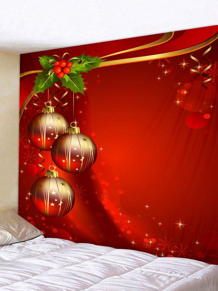 Christmas Ball Tapestry Art Decoration - multicolor W79 X L71 INCH