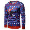 Eagle Santa Claus Printed Long Sleeves T-shirt - multicolor M